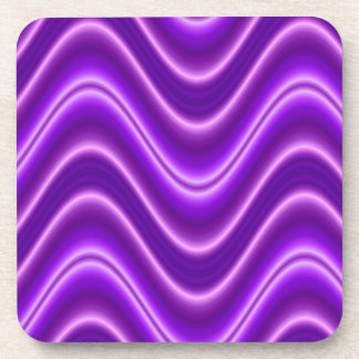 bright purple wave abstract coaster