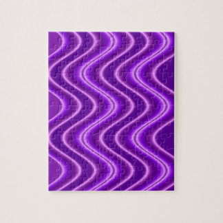bright purple wave abstract jigsaw puzzle