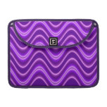 Bright purple wave sleeve for MacBooks