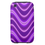 Bright purple wave tough iPhone 3 cover