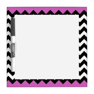 Bright Purple White Black Chevron Zigzag Pattern Dry-Erase Board