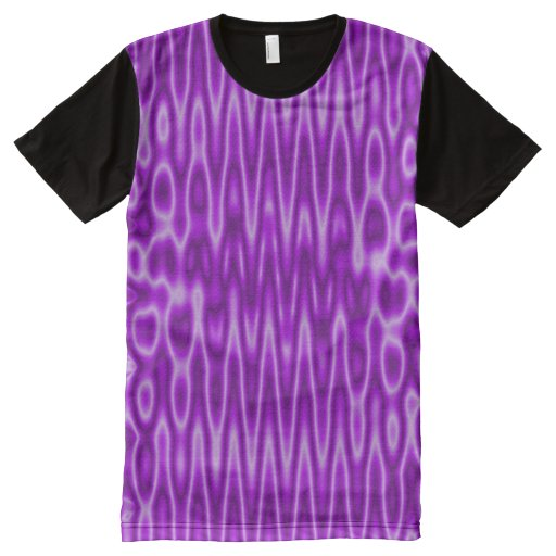 Bright purple white mod pattern all over print t shirt for Bright purple t shirt