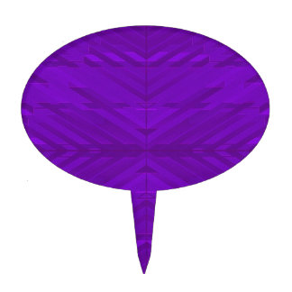 Bright Purple with Subtle Pattern Cake Topper