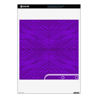 Bright Purple with Subtle Pattern PS3 Slim Console Skin