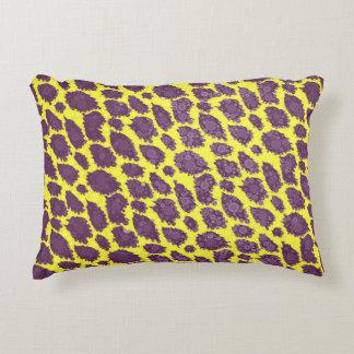 Bright Purple Yellow Cheetah Accent Pillow
