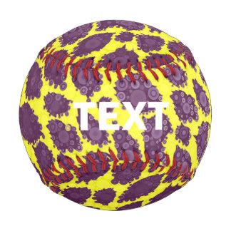 Bright Purple Yellow Cheetah Baseball
