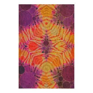 Bright Purple Yellow Zebra Cork Paper Print