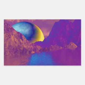 Bright Purples Alien World Stickers