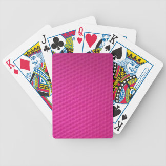Bright purplish pink with depressions bicycle playing cards