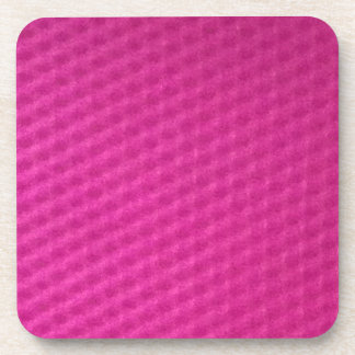 Bright purplish pink with depressions drink coaster