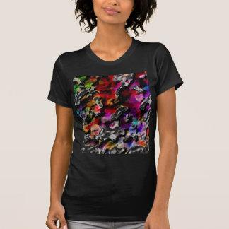 Bright Rain 2  Women's Black Designer Tshirt