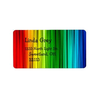 Bright Rainbow Address Label