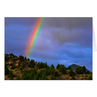 Bright Rainbow and Hill Greeting Card