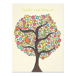 "Bright Rainbow Bird Tree Custom Wedding Invitation 6.5"" X 8.75"" Invitation Card"