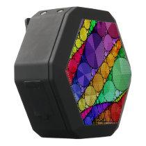 Bright Rainbow Bling Pattern Black Bluetooth Speaker