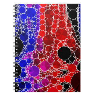 Bright Rainbow Bling Pattern Notebook