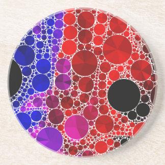 Bright Rainbow Bling Pattern Sandstone Coaster
