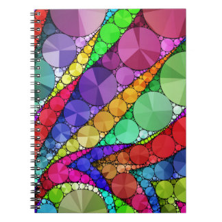 Bright Rainbow Bling Pattern Spiral Notebook