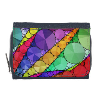 Bright Rainbow Bling Pattern Wallets