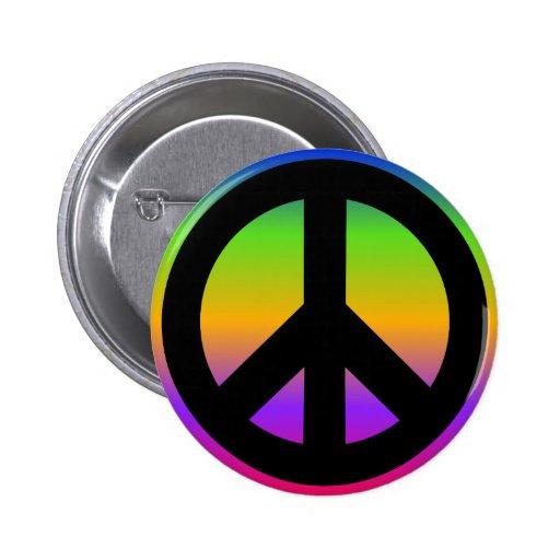 Bright Rainbow Button