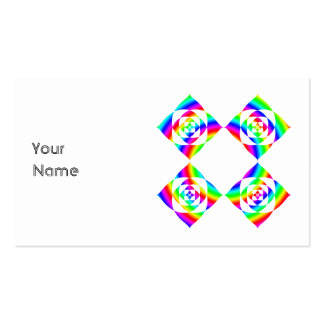 Bright Rainbow Color Flowers. On White. Double-Sided Standard Business Cards (Pack Of 100)