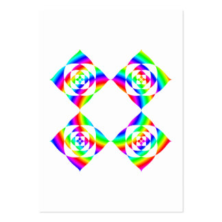 Bright Rainbow Color Flowers. On White. Large Business Cards (Pack Of 100)