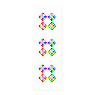 Bright Rainbow Color Flowers. On White. Double-Sided Mini Business Cards (Pack Of 20)