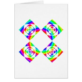 Bright Rainbow Color Flowers. On White. Stationery Note Card