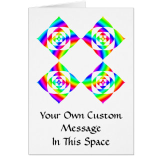 Bright Rainbow Color Flowers. On White. Greeting Card