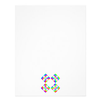 """Bright Rainbow Color Flowers. On White. 8.5"""" X 11"""" Flyer"""