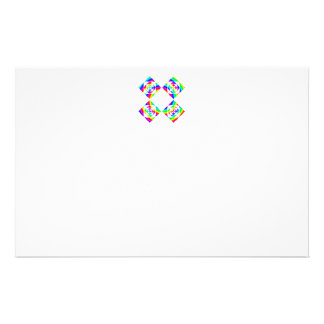 """Bright Rainbow Color Flowers. On White. 5.5"""" X 8.5"""" Flyer"""