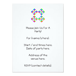 Bright Rainbow Color Flowers. On White. 6.5x8.75 Paper Invitation Card
