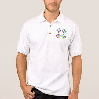 Bright Rainbow Color Flowers. On White. Polo