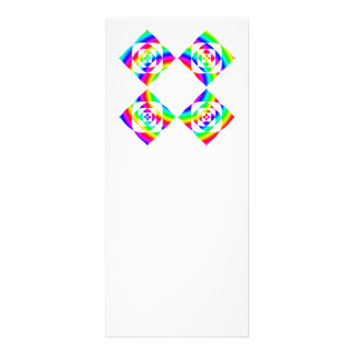 Bright Rainbow Color Flowers. On White. Rack Card Template