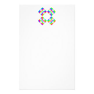 Bright Rainbow Color Flowers. On White. Stationery
