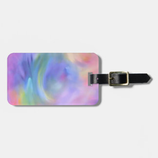 Bright Rainbow Colored Abstract Art, Luggage Tag