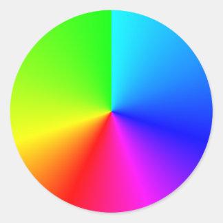 Bright Rainbow Colors Radial Gradient Classic Round Sticker