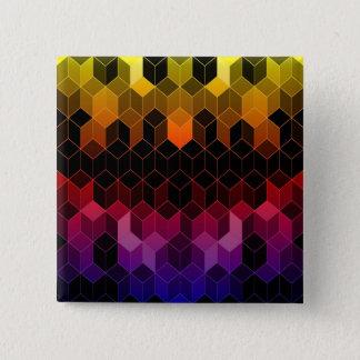 Bright Rainbow Cube Design Pinback Button