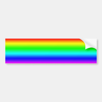 Bright Rainbow Design Bumper Sticker