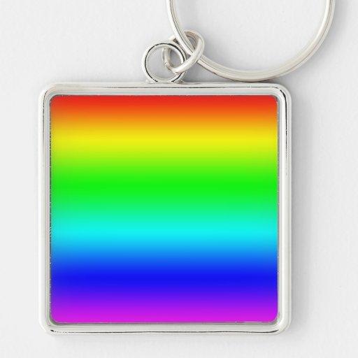 Bright Rainbow Design Keychain