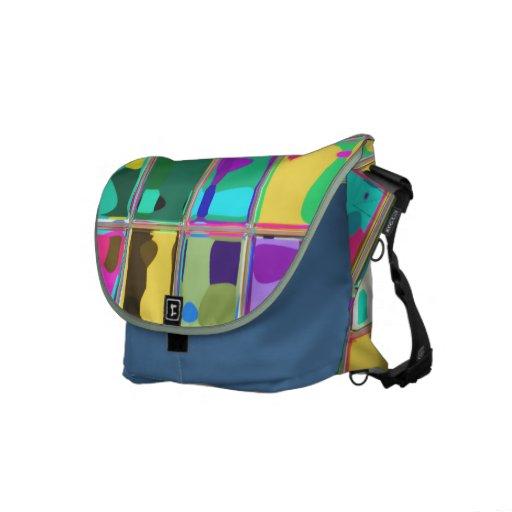Bright Rainbow Glass Art Custom Messenger Bag