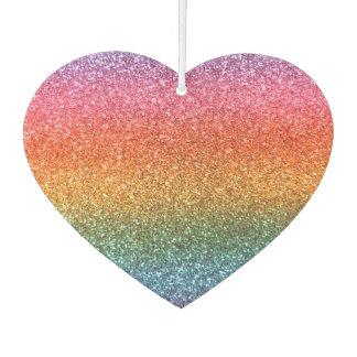 Bright rainbow glitter