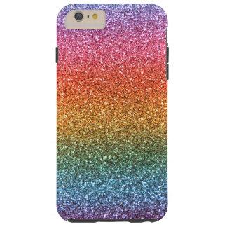 Bright rainbow glitter tough iPhone 6 plus case