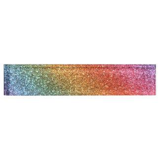 Bright rainbow glitter name plate