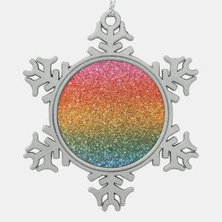 Bright rainbow glitter ornaments