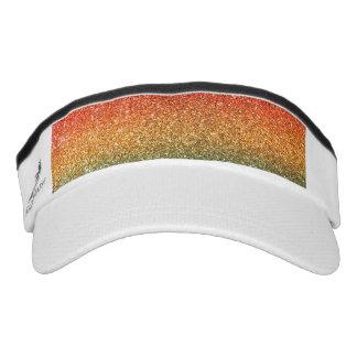 Bright rainbow glitter headsweats visors