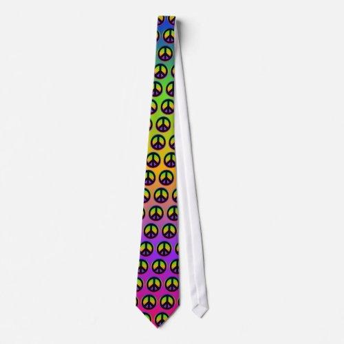 Bright Rainbow Gradient tie