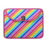Bright rainbow hearts macbook pro sleeve