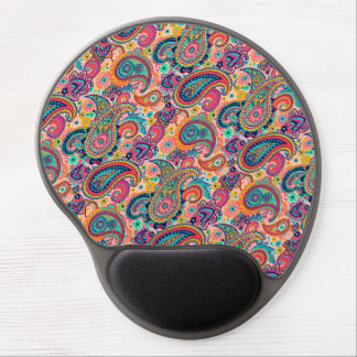 Bright Rainbow Paisley Gel Mouse Pad