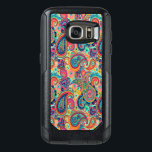 """Bright Rainbow Paisley OtterBox Samsung Galaxy S7 Case<br><div class=""""desc"""">You will love our with this bright,  colorful hand-drawn paisley pattern in all the colors of the rainbow. Orange,  red and blue tones are highlighted with uplifting mint green,  pink,  and black.</div>"""